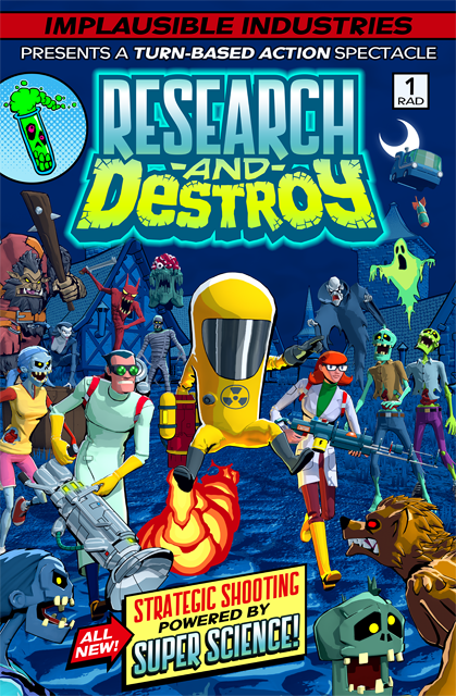 RESEARCH AND DESTROY COMIC BOOK KEY ART
